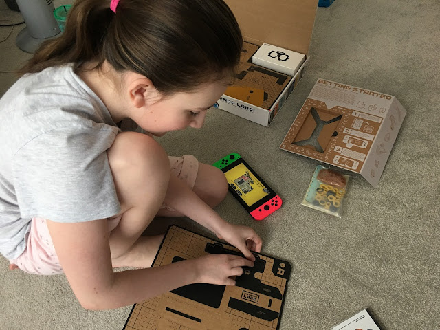sasha making the nintendo labo VR goggles