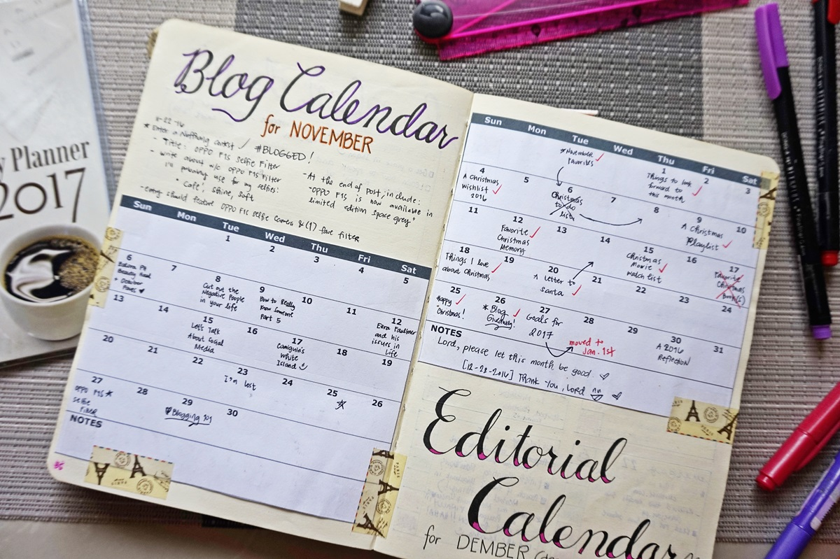 Blog Calendar on Renee's Bullet Journal
