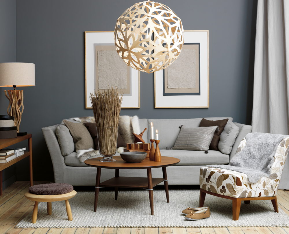 Mix and chic gray is the new beige - Gray living room walls ...