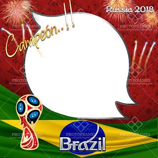 marco para fotos brazil del mundial Rusia 2018