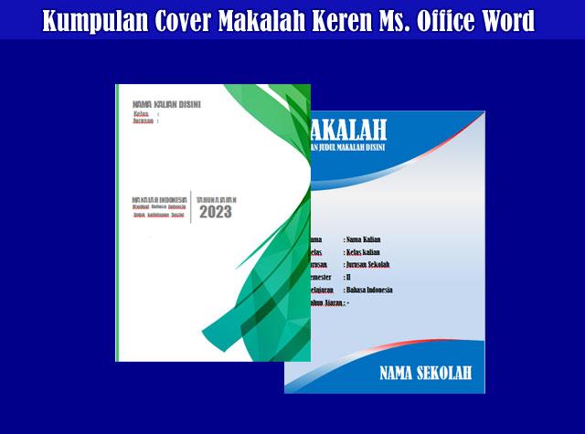 Kumpulan Cover Jilid Makalah Microsoft Office Word Keren