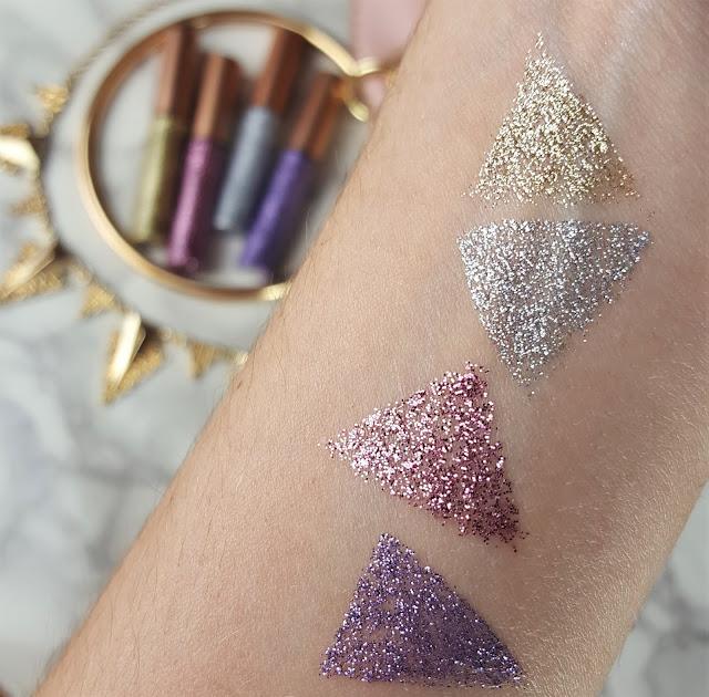 glitter swatches