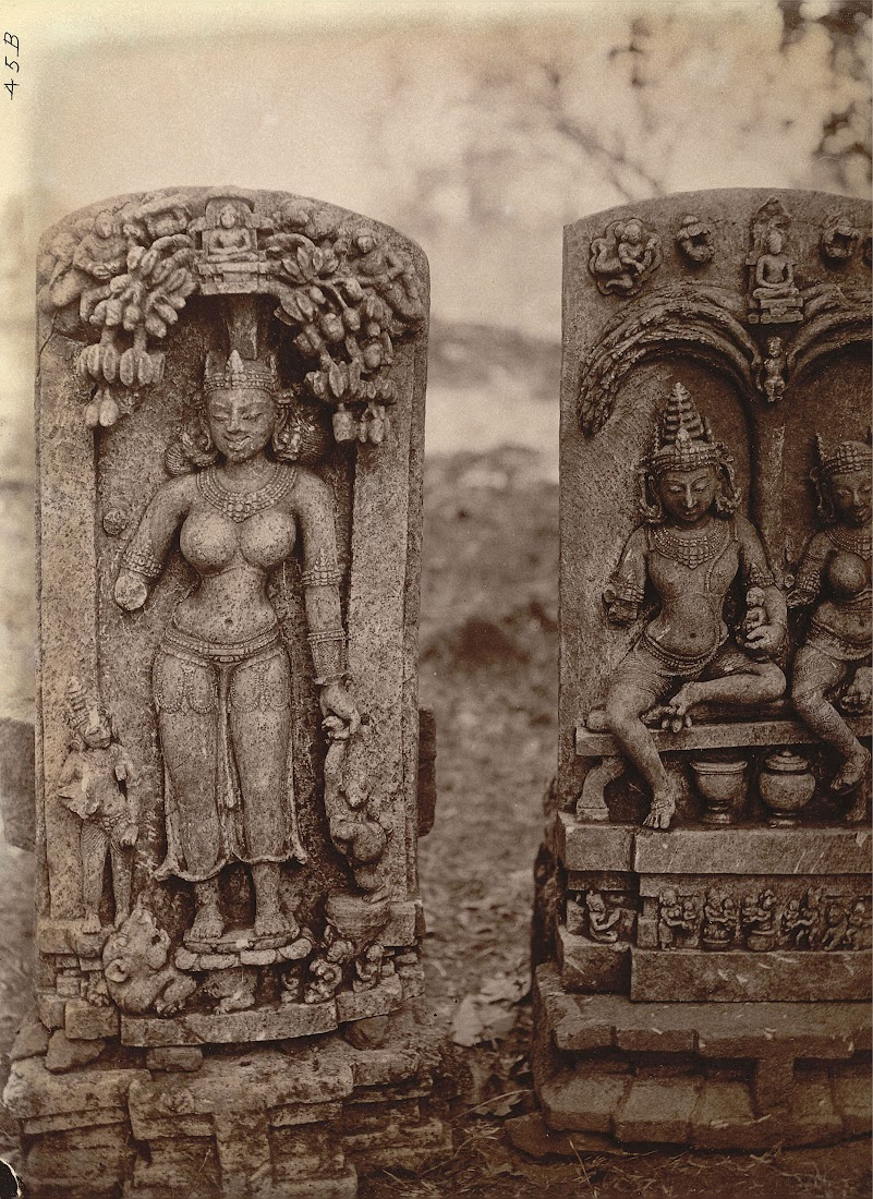 Two Sculptured Slabs from Pakbirra Village, Manbhum District (Now in Purulia District), Bengal - 1872