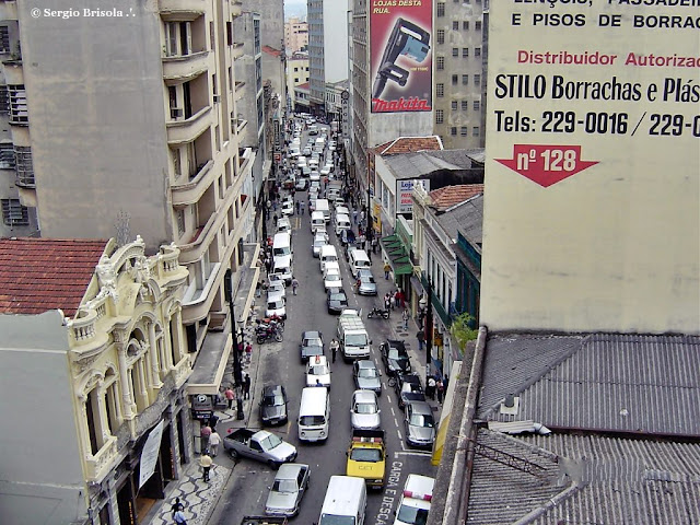Vista superior da Rua Florêncio de Abreu - Centro São Paulo
