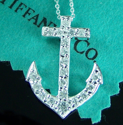 Auger Valve Image Tiffany Anchor Necklace