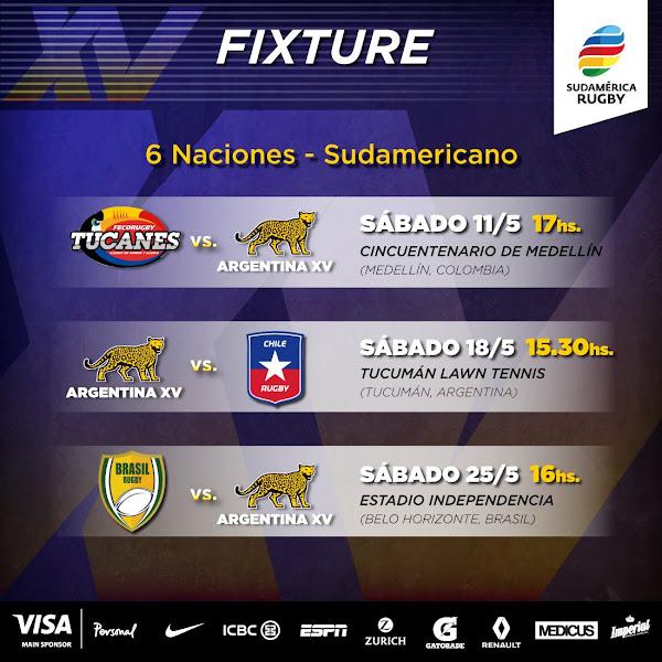 Fixture de Argentina XV - Sudamericano 2019