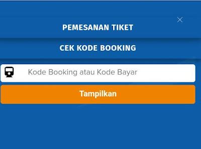 Cek Kode Booking tiket kereta Api