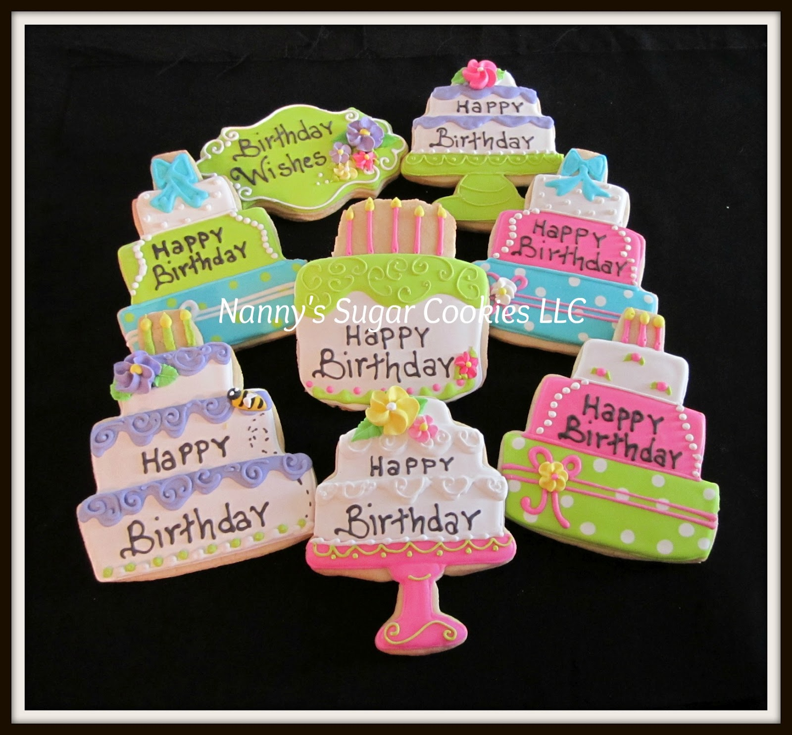 Nanny S Sugar Cookies Llc Happy Birthday