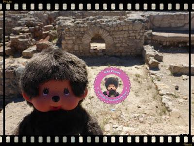 Vue sur la cité Romaine d'Empúries sur la Costa Brava