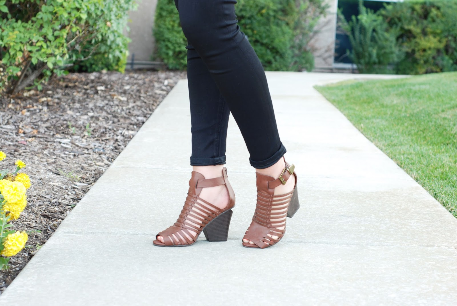 Black Skinny Jeans, Brown Heels, Forever 21