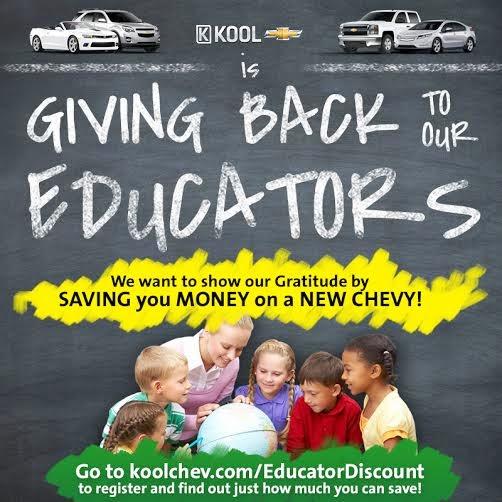 Chevrolet Grand Rapids: Chevrolet Educator Discount At Kool Chevrolet