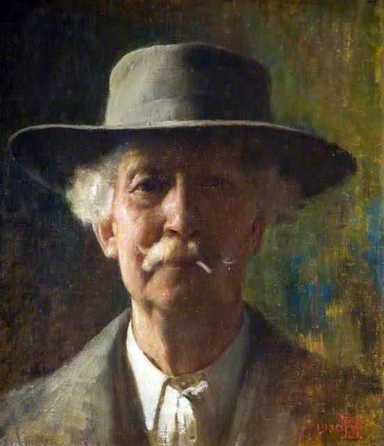 Jethro Anstice Cossins, Self Portrait, Portraits of Painters, Jethro Anstice, Fine arts, Portraits of painters blog, Paintings of Jethro Anstice, Painter  Jethro Anstice