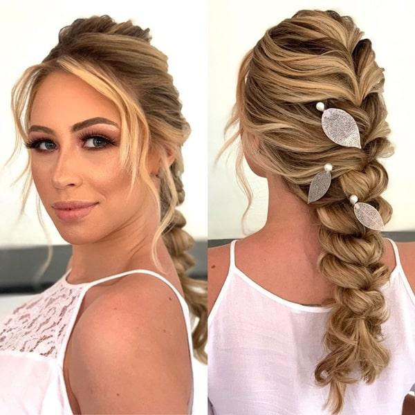 penteado de festa trança braid