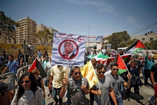 Palestinos convocan protestas contra EE.UU.