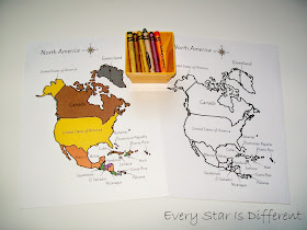 North America Map Coloring Activity