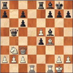 Partida ajedrez Daniele Vocaturo - Benjamin Gledura, Torneo Magistral Internacional Ciudad de Barcelona 2017, posición después de 19…Db5