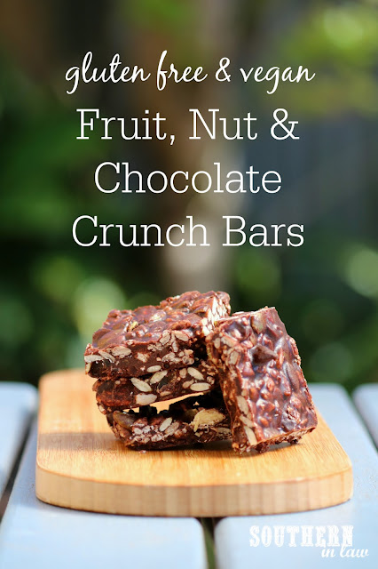 Healthy Fruit Nut and Chocolate Crunch Bars Recipe – no bake, gluten free, vegan, egg free, dairy free, sugar free, clean eating recipe