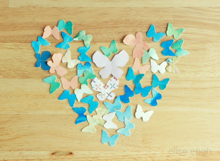 Valentine's Heart Photography- paper butterflies- Grow Creative