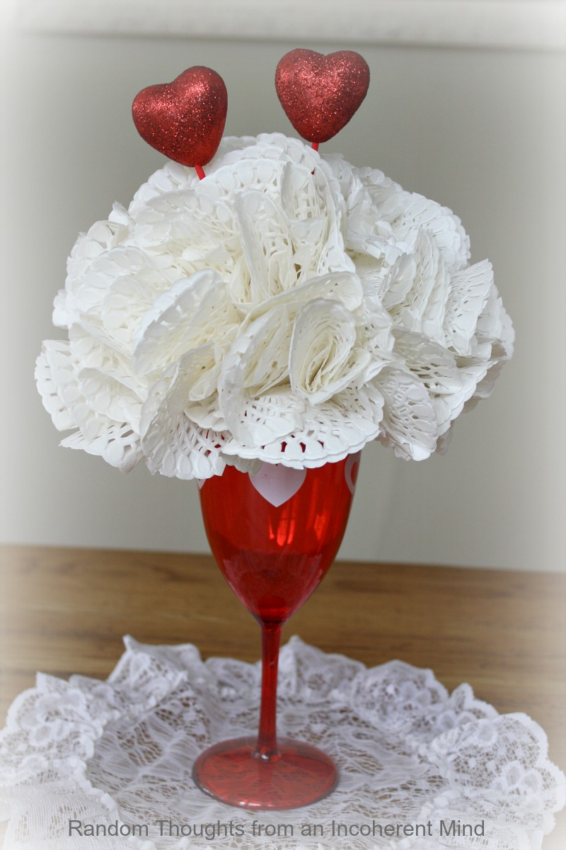 Valentine S Day Crafting With The Dollar Store Random Thoughts Home