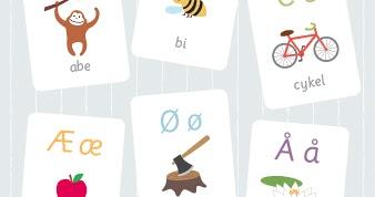 alfabet til ophæng i klassen