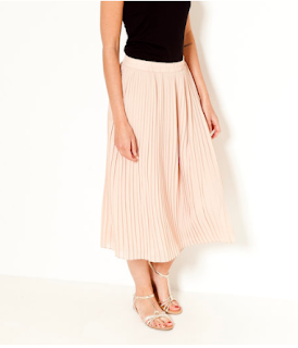 jupe plissé rose