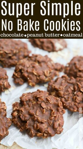 Super Simple No Bake Cookies