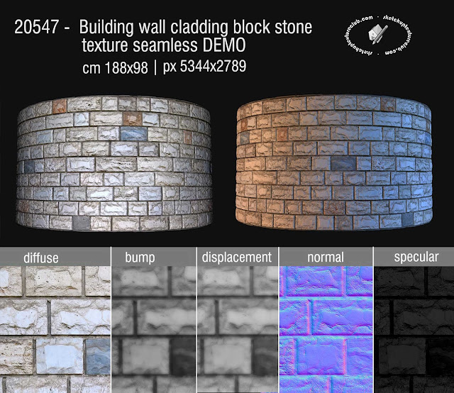 building wall cladding blocks stone texture seamless 20547