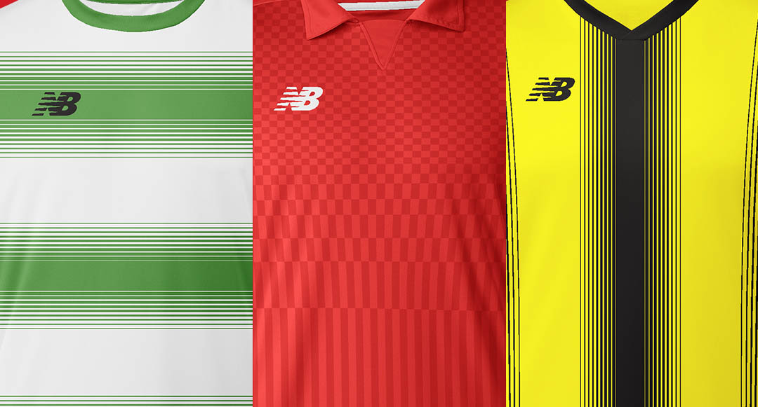 88568d9cd11 The New Balance 17-18 Teamwear Jersey collection includes 9 different  player kits and one goalkeeper jersey