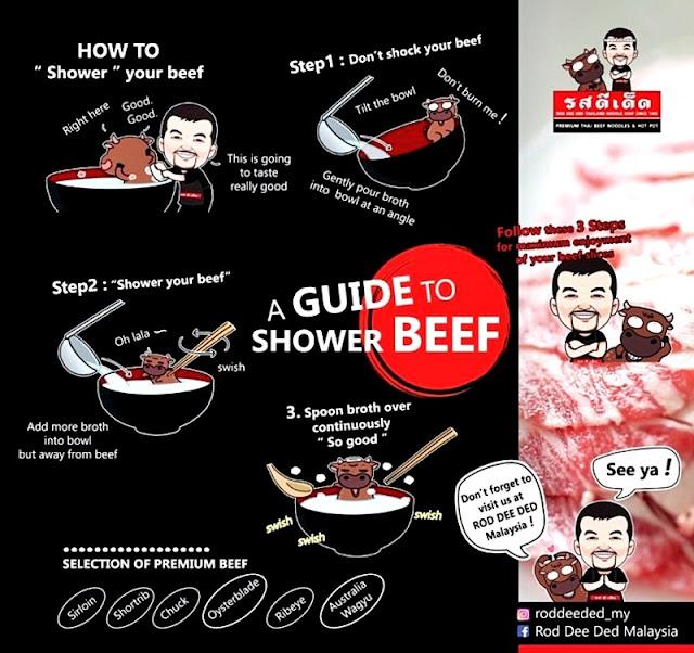 Shower Beef Style ROD DEE DED