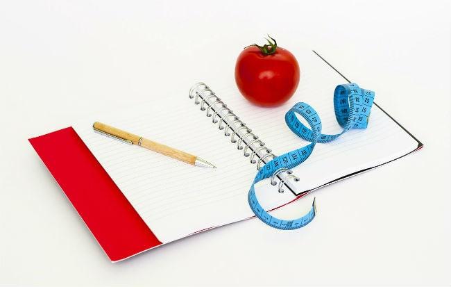 Diario della dieta dimagrante