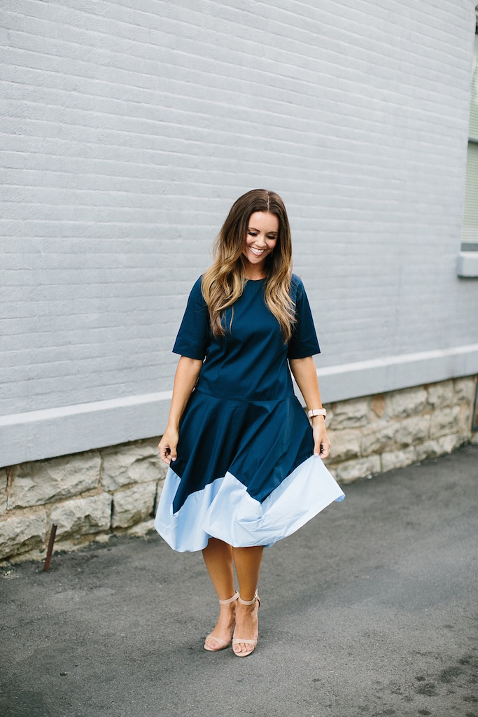 KBStyled: storets color block dress dresses color blocking blue dress