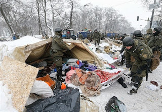 Opposition's Tent Camp outside Ukrainian Parliament