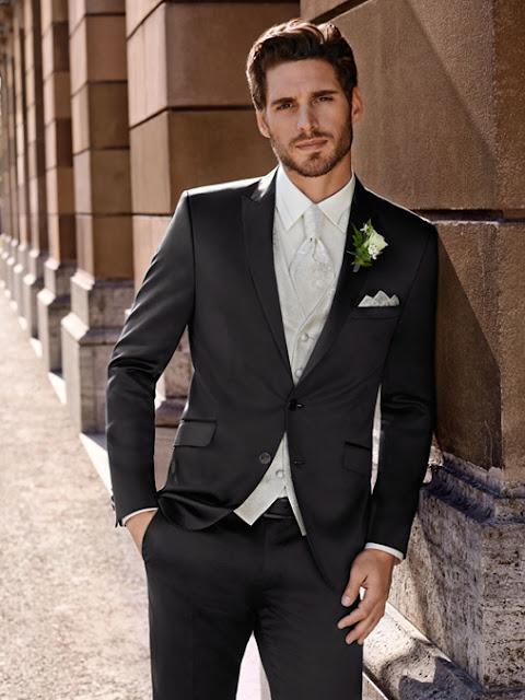 Anzug für Bräutigam. Bräutigam Anzüge Slim, tailiert modern und jung.