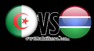 مباراة الجزائر وغامبيا بث مباشر اليوم