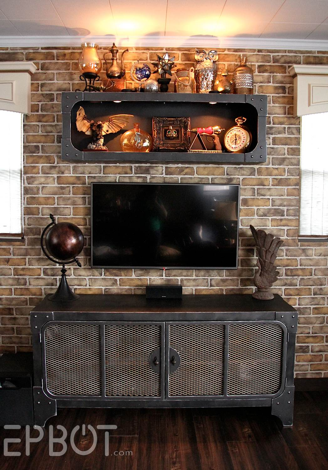 Epbot Finished Steampunk Tv Cabinet Amp Shelf Reveal