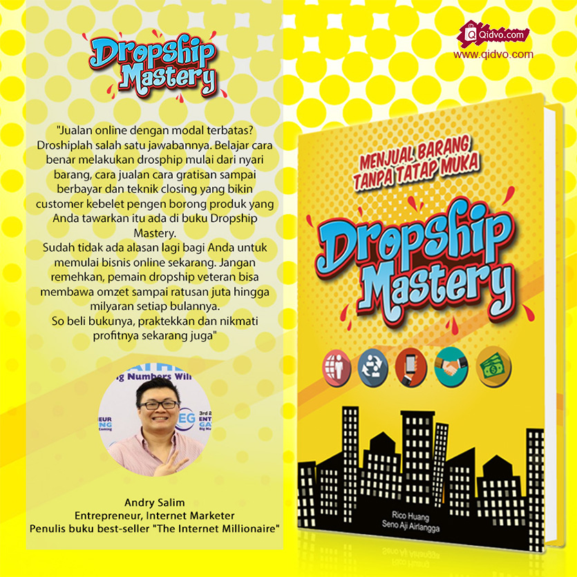 Buku Belajar Dropship Mastery Untuk Pemula Dalam Berjualan Online