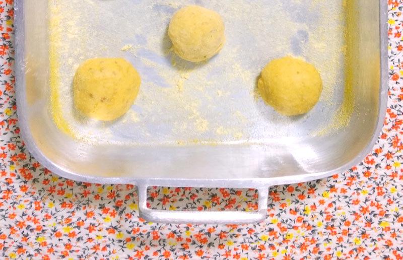 Pão de casca de abóbora, antes de crescer