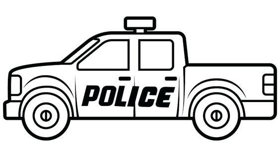 Tranh tô màu xe ô tô cảnh sát 2