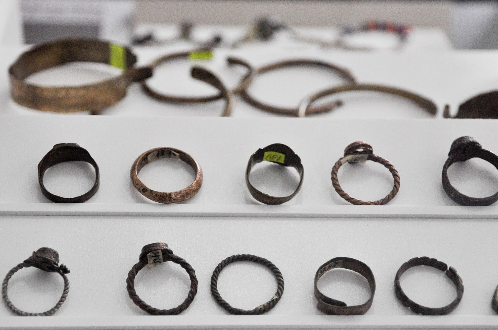 Rings and bracelets, The Museum, Pliska, Bulgaria
