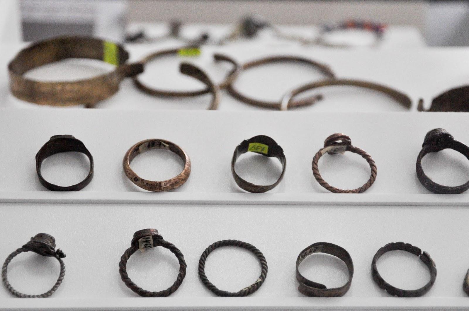 Rings and bracelets, The Museum, Pliska, Bulgaria