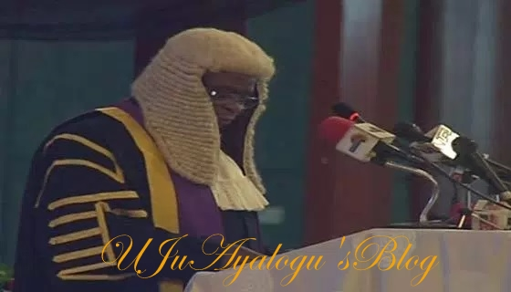 Onnoghen Swears in Abba Aji as Justice of Supreme Court