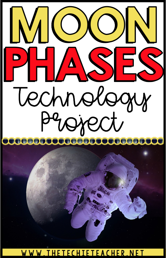 Digital activity for learning about the phases of the moon: FREE technology project directions and grading rubric. Create an animated gif of the moon going through all of the different phases. A paperless project for Chromebooks, laptops and computers