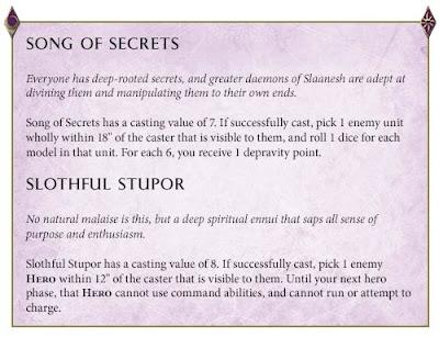 reglas Hedonitas de Slaanesh
