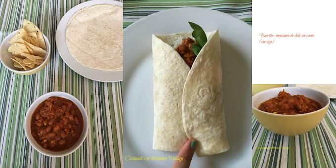 Burritos de chile sin carne (con soja)