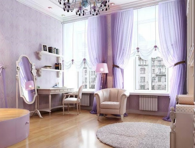 Pretty Purple Curtain Design Ideas For Living Room