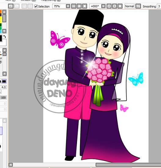 Wedding Doodle Siti
