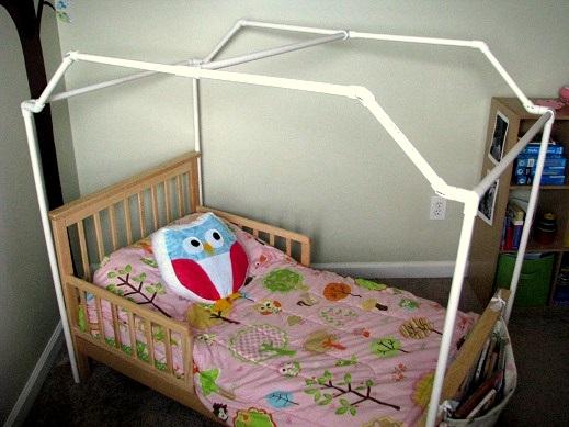 PVC Framed Canopy Bed | Gluesticks