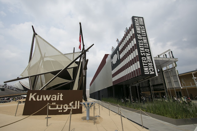 Padiglione Kuwait ed USA-Expo 2015-Milano