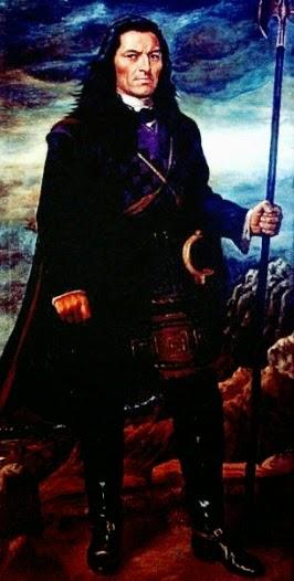 Imagen de Túpac Amaru II de cuerpo entero