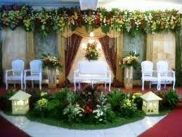 dekorasi wedding di rumah